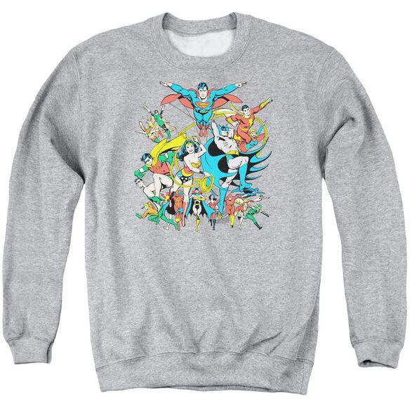 Dc Justice League Assemble Adult Crewneck Sweatshirt Athletic