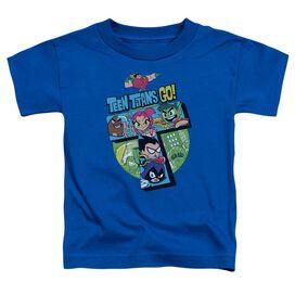 Teen Titans Go T Short Sleeve Toddler Tee Royal Blue T-Shirt