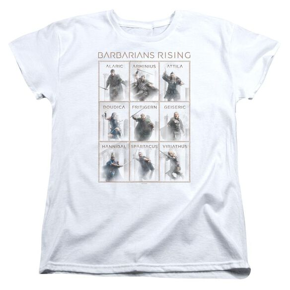 Barbarians Rising Nine Short Sleeve Womens Tee White T-Shirt