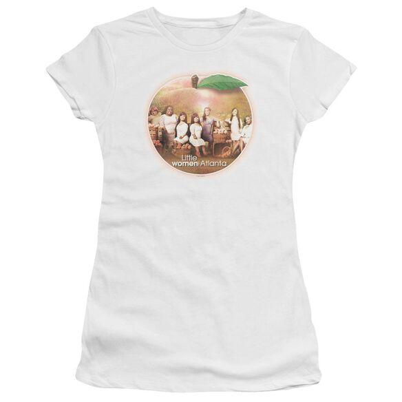 Little Women Atlanta Peach Pie Hbo Short Sleeve Junior Sheer T-Shirt