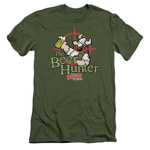 Hagar The Horrible Beer Hunter Short Sleeve Adult Military T-Shirt