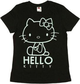 Hello Kitty Outline Ladies Tee