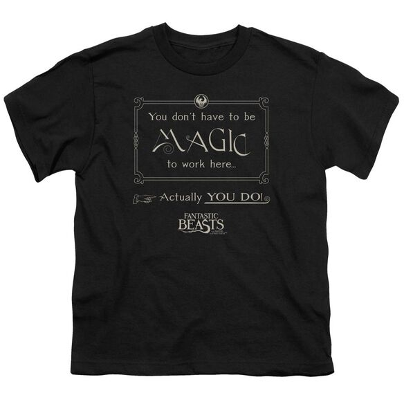 Fantastic Beasts Magic To Work Here Short Sleeve Youth T-Shirt