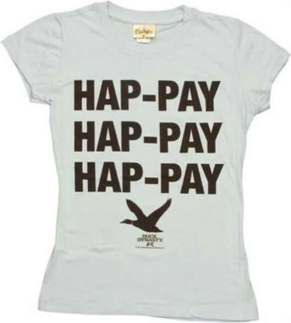 Duck Dynasty Hap-Pay Blue Baby Tee