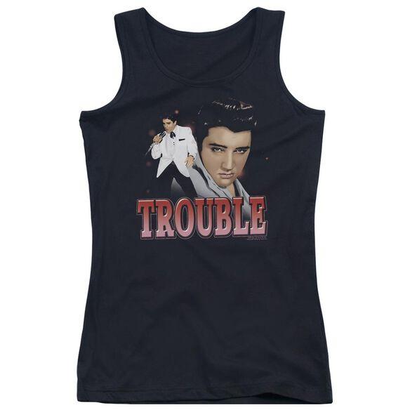 Elvis Presley Trouble Juniors Tank Top