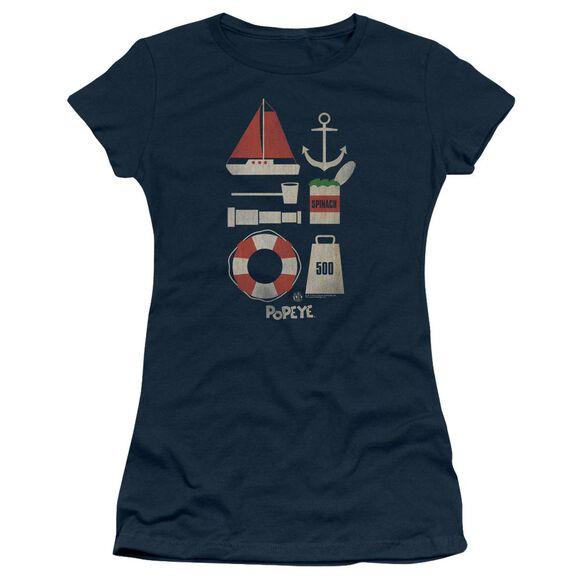 Popeye Items Short Sleeve Junior Sheer T-Shirt