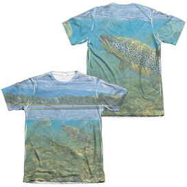 WILD WINGS BIGHORN RIVER (FRONT/BACK PRINT)-ADULT POLY/COTTON T-Shirt