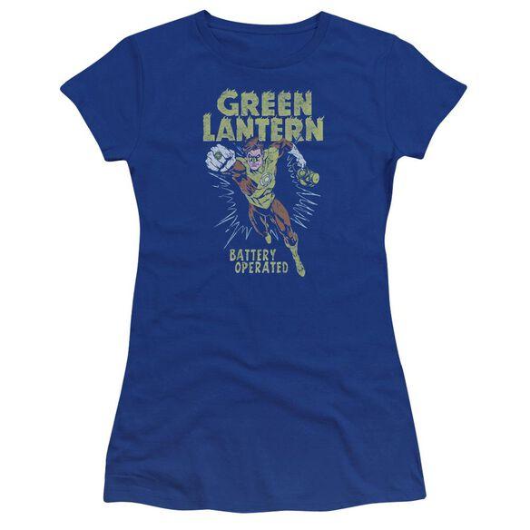 Green Lantern Fully Charged Premium Bella Junior Sheer Jersey Royal