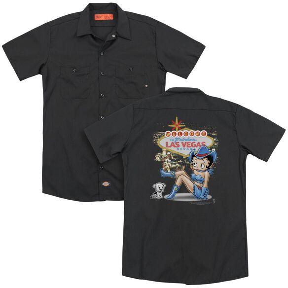 Betty Boop Welcome Las Vegas (Back Print) Adult Work Shirt