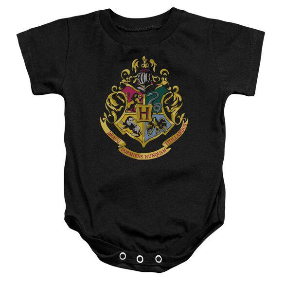 Harry Potter Hogwarts Crest Infant Snapsuit Black