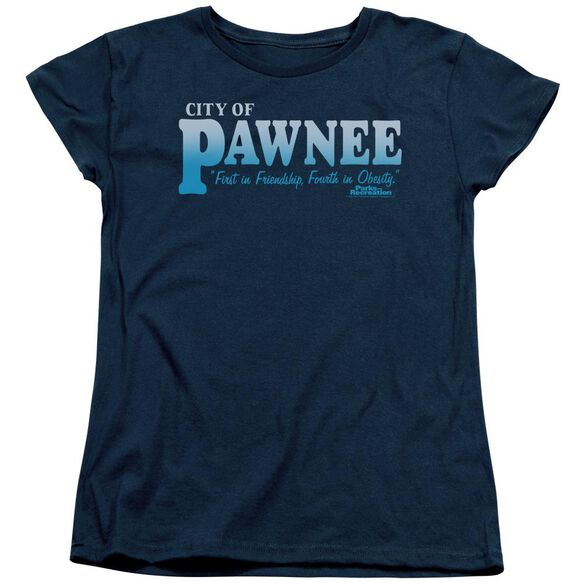 Parks And Rec Pawnee Short Sleeve Womens Tee T-Shirt