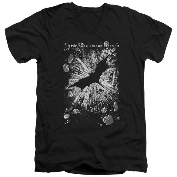 Dark Knight Rises Crumbled Short Sleeve Adult V Neck T-Shirt