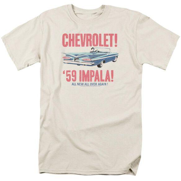 Chevrolet 59 Impala Short Sleeve Adult Cream T-Shirt