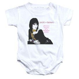 Joan Jett Misspent Youth Infant Snapsuit White