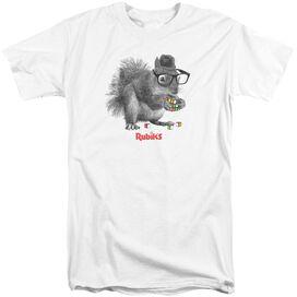 Rubik's Cube Nerd Squirrel Short Sleeve Adult Tall T-Shirt
