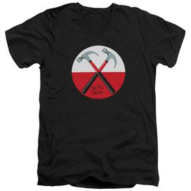 Roger Waters Hammers Short Sleeve Adult V Neck T-Shirt