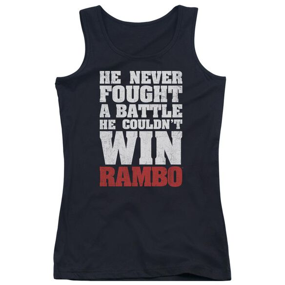 Rambo:First Blood He Never Juniors Tank Top