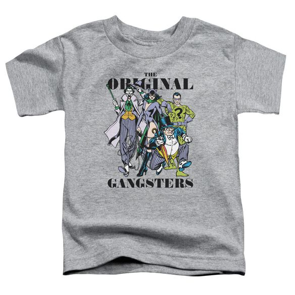 Dc Original Gangsters Short Sleeve Toddler Tee Athletic Heather T-Shirt