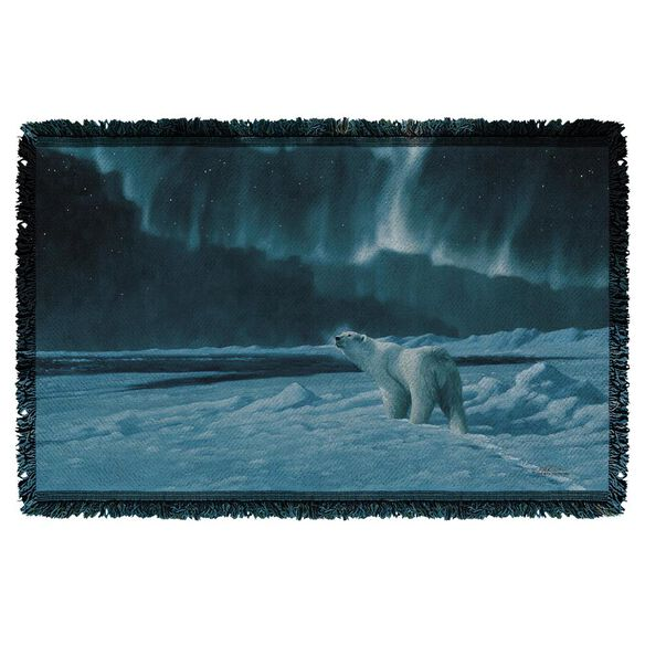 Wild Wings Polar Night Light 2 Woven Throw