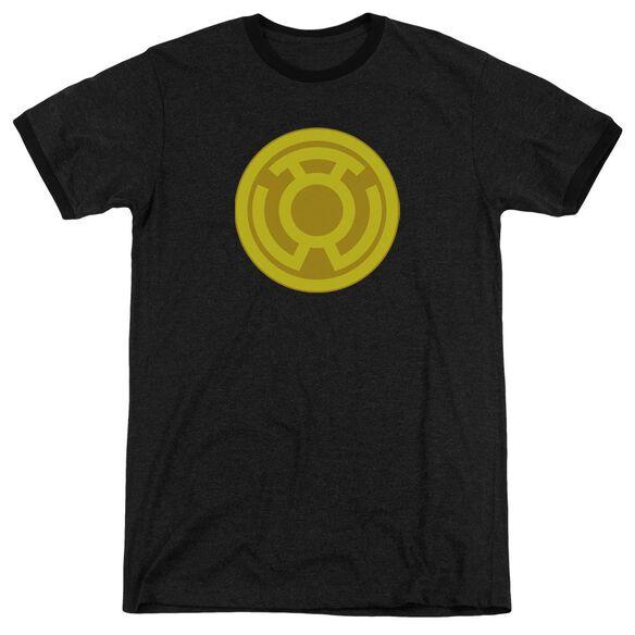 Green Lantern Yellow Symbol Adult Heather Ringer