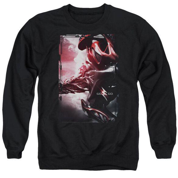 Power Rangers Red Zord Poster Adult Crewneck Sweatshirt