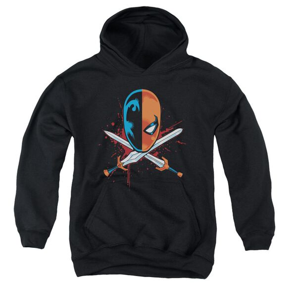 Jla Crossed Swords Youth Pull Over Hoodie