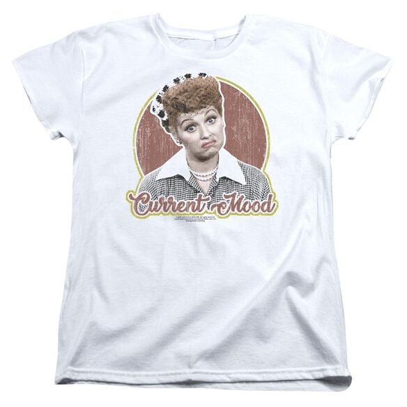 I Love Lucy Current Mood Short Sleeve Women's Tee T-Shirt