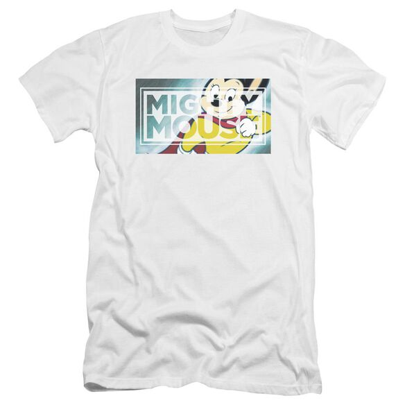 Mighty Mouse Mighty Rectangle Premuim Canvas Adult Slim Fit