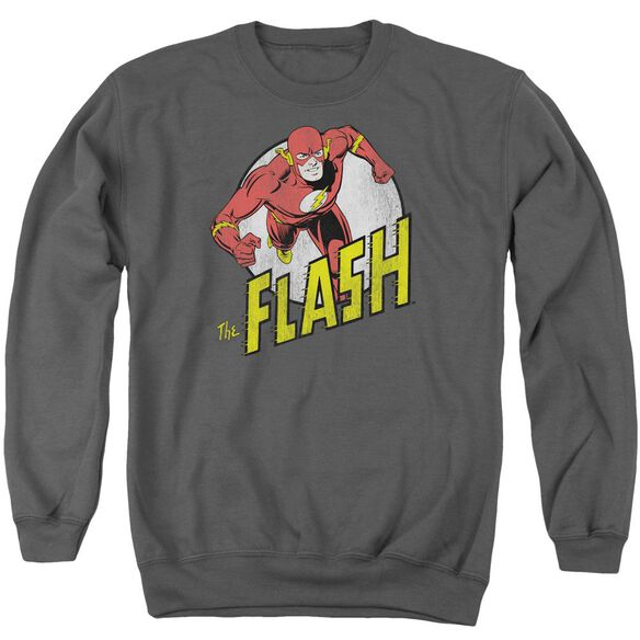 Dc Run Flash Run Adult Crewneck Sweatshirt
