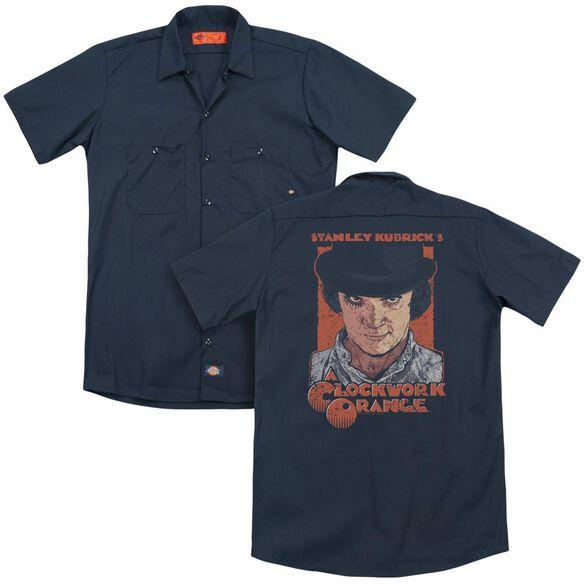 A Clockwork Orange Sinister Stare (Back Print) Adult Work Shirt