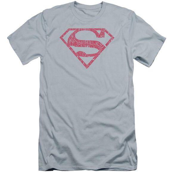 Superman Word Shield Premuim Canvas Adult Slim Fit Light