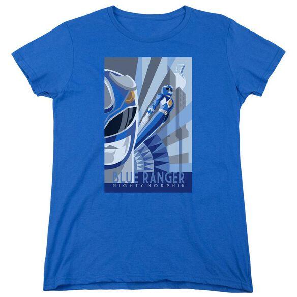 Power Rangers Ranger Deco Short Sleeve Womens Tee Royal T-Shirt