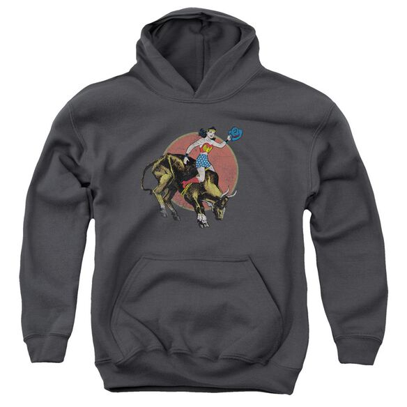 Jla Bull Rider Youth Pull Over Hoodie