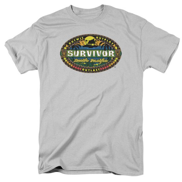 Survivor South Pacific Short Sleeve Adult Silver T-Shirt