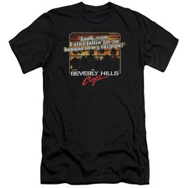Beverly Hills Cop Banana In My Tailpipe Premuim Canvas Adult Slim Fit