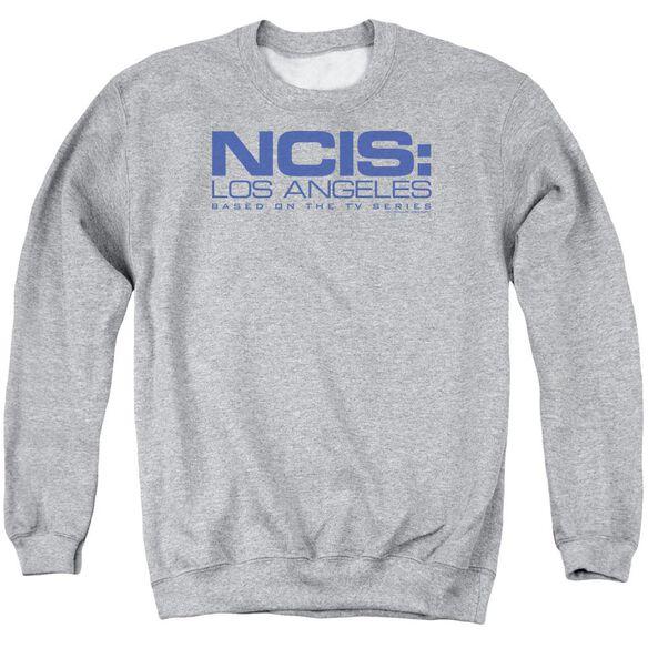 Ncis La Logo - Adult Crewneck Sweatshirt - Athletic Heather