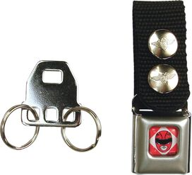 Power Rangers Red Ranger Buckle Keychain
