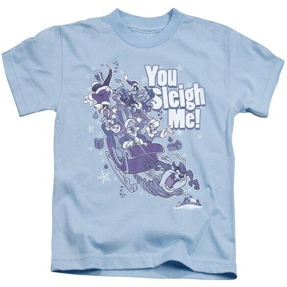 Looney Tunes You Sleigh Me Short Sleeve Juvenile Light T-Shirt