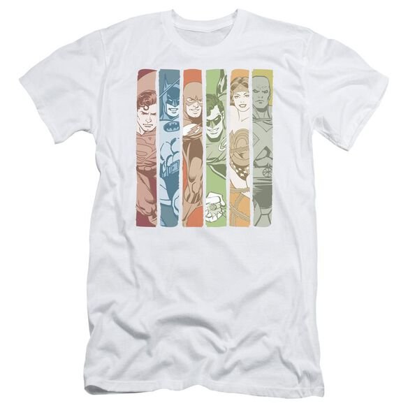 Dc Justice League Columns Short Sleeve Adult T-Shirt