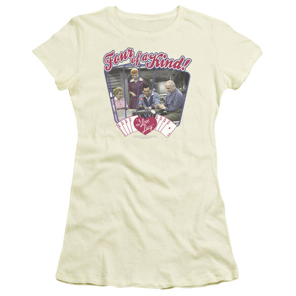 I LOVE LUCY FOUR OF A KIND - S/S JUNIOR SHEER - CREAM T-Shirt