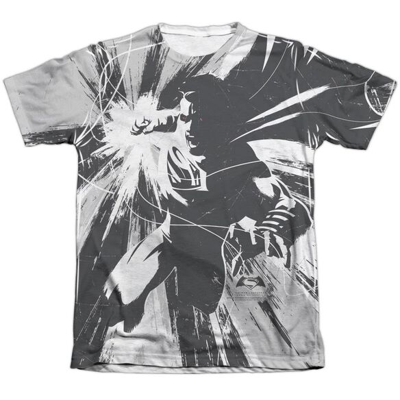 Batman V Superman Graphic Contrast Adult Poly Cotton Short Sleeve Tee T-Shirt