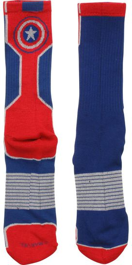 Captain America Logo Active Crew Socks