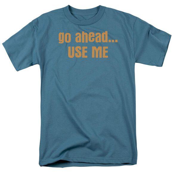 Go Ahead...Use Me Short Sleeve Adult Slate T-Shirt