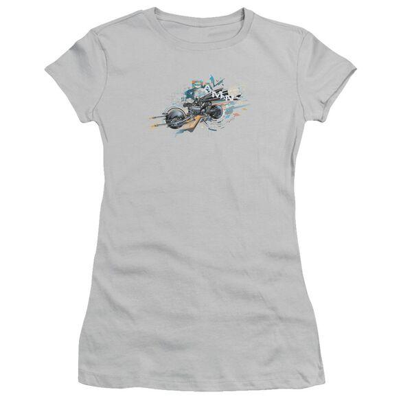 Dark Knight Rises Dark Rider Short Sleeve Junior Sheer T-Shirt