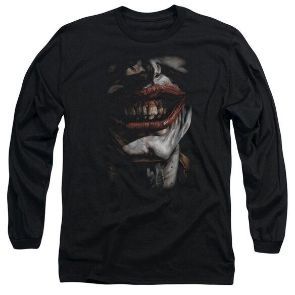 BATMAN SMILE OF EVIL - L/S ADULT 18/1 - BLACK T-Shirt