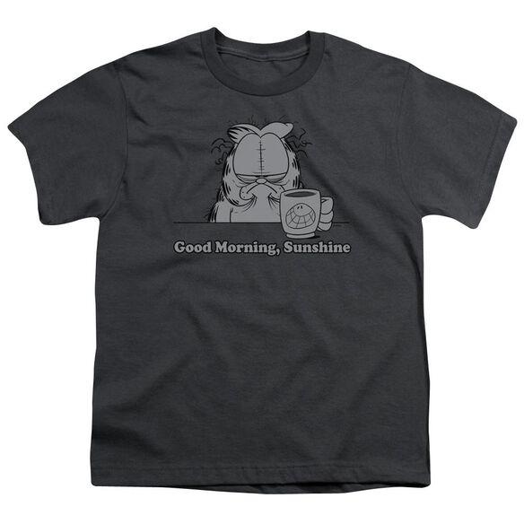 GARFIELD GOOD MORNING SUNSHINE - S/S YOUTH 18/1 - CHARCOAL T-Shirt