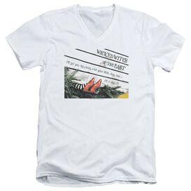 Wizard Of Oz Size 7 Short Sleeve Adult V Neck T-Shirt