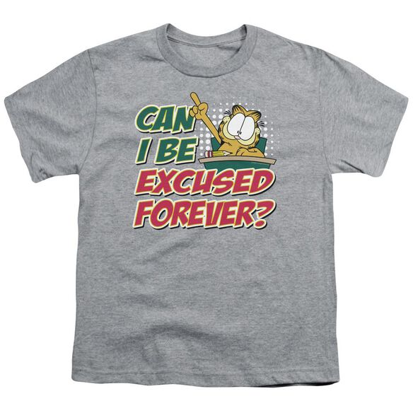 Garfield Excused Forever Short Sleeve Youth Athletic T-Shirt
