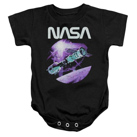 Nasa Come Together Infant Snapsuit Black
