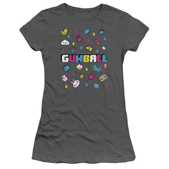 Amazing World Of Gumball Fun Drops Short Sleeve Junior Sheer T-Shirt
